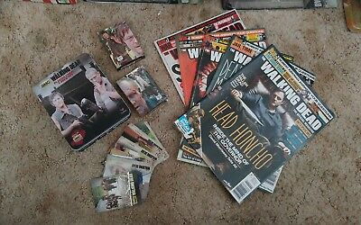 AMC The Walking Dead Lot Trading Cards Official Magazines 2-7
