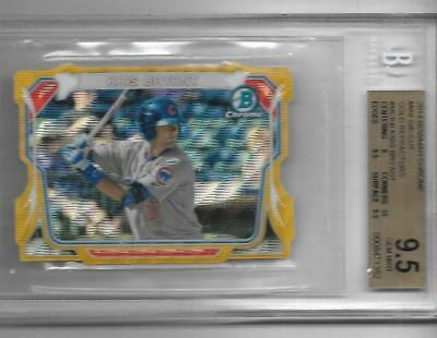 Kris Bryant 2014 Chrome MINI DIE CUT GOLD REFRACTOR #17/50 BGS 9.5 - JERSEY # !