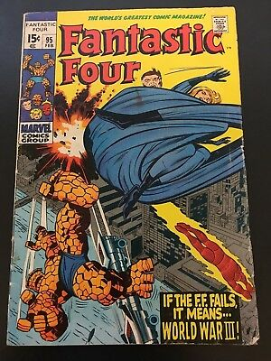 Fantastic Four # 95  vol 1 Marvel If the FF fail - World War III  Cents Issue