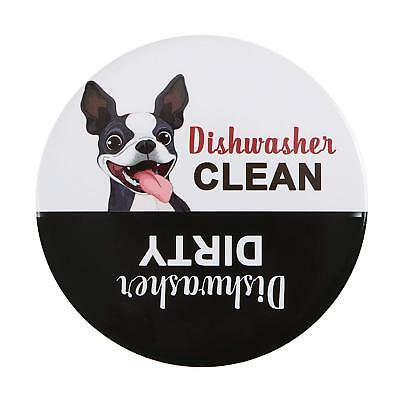 Premium Funny Dog Dishwasher Magnet Clean Dirty Sign 3.15x3.15 In Non-Scratching