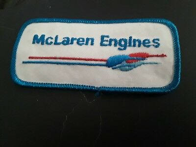 VINTAGE McLaren Engines  Automotive   Embroidered Patch