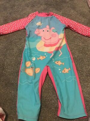 Girls Peppa Pig Swimming Suit Age 5-6