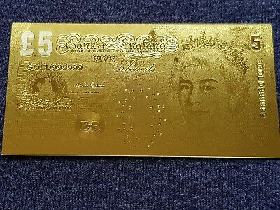 22ct gold £5 note