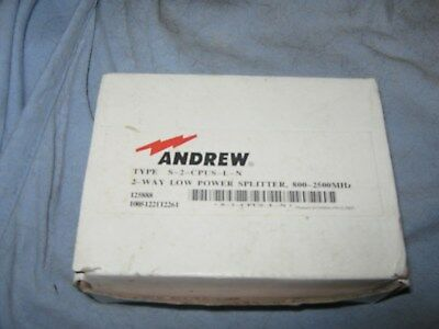 Comscope Andrew 2 way low power splitter 800-2500 MHz S-2-CPUS-L-N.