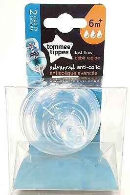 Tommee Tippee two Nipples fast flow FREE SHIPPING