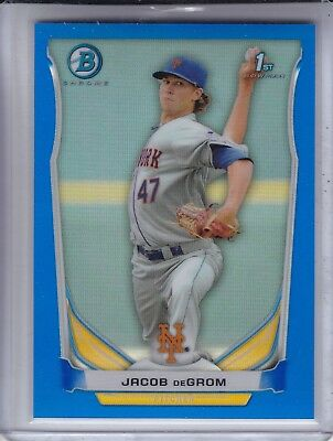2014 Bowman Chrome JACOB DeGROM #/250 RC Blue Refractor New York Mets Cy Young?