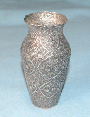 "Russian (?) Yogya (?) .800 Silver Vase - 5 3/8"" Tall - Excellent Condition!"