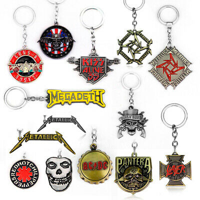 Music Band Rock Metal Keyring Keychain Key Chain Ring Handbag Pendant Jewelry