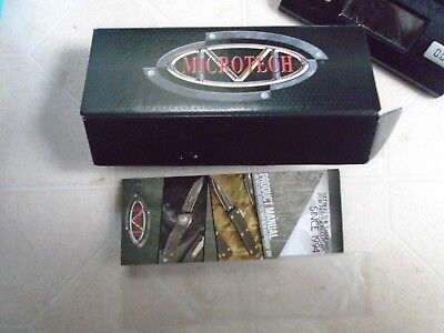 Microtech BOX ONLY. Pamphlet sleeve micro tech knife