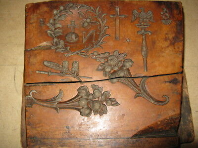 antique rare 18th / 19th century carved wood lost wax mould Napoleon strange