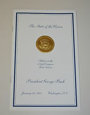 "GEORGE H.W. BUSH [Sr.] 1991 ""STATE OF THE UNION  ADDRESS""~VIP EDITION~MINT"