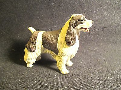 Vintage Black and White English Springer Spaniel Dog Figure