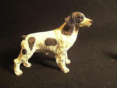 Vintage Black and White Brittany Dog Figure