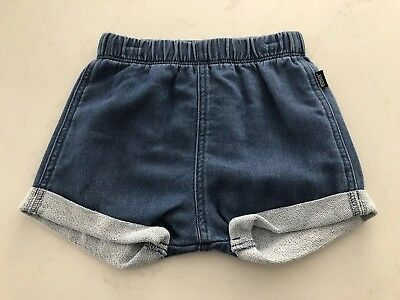 Bonds Outerwear Denim Colour Shorts Size 2 / 18-24 Months BNWT