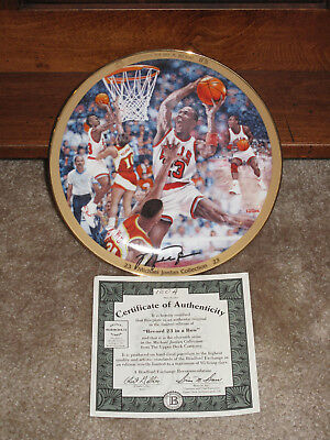 Michael Jordan Collection Record 23 in a Row 11th Issue Bradford Exchange Plate