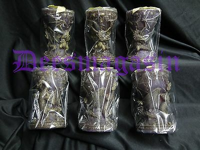 Set of 6 Purple Mythical DRAGON Candles Fantasy Tealight Wholesale