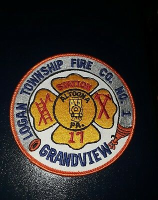 Logan Township Grandview Altoona  PA No 1 Fire Department Co. 17  Jacket. Patch