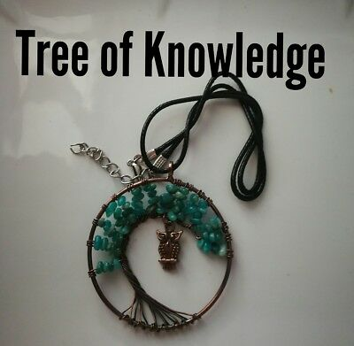 Code 333 Amazonite xl Tree of Knowledge Archangel Infused Necklace Life spiritua