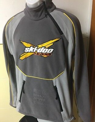 New  $165 Brp Ski-Doo X Team Fleece Pullover Gray Jacket Size Small Pristine