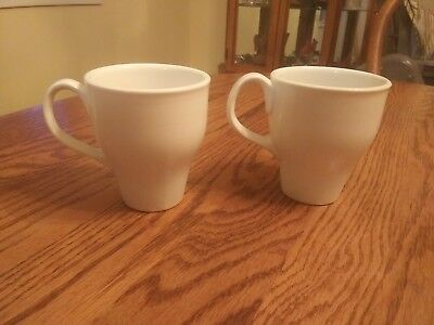 Two Iroquois RUSSEL WRIGHT Restyled Mugs Cups Casual White