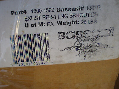 Bassani Manufacturing Road Rage 2-Into-1 Exhaust System Chrome 1S31R 1800-1590