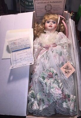 Vintage Hand Painted Porcelain Doll, Katelyn. Gallery Collection. NIB. Rare.