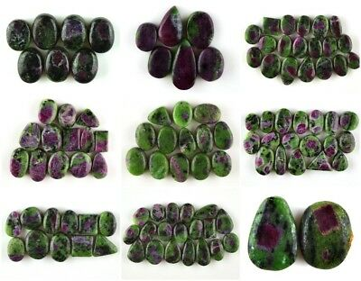 Genuine Ruby Zoisite Cabochon Gemstone #DR41