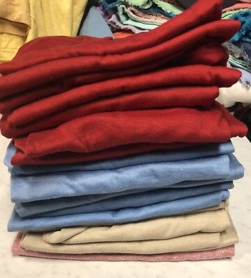 Lot Of 17 Kids  Deadstock Blank 1970s T Shirts Size Medium 10-12 50/50