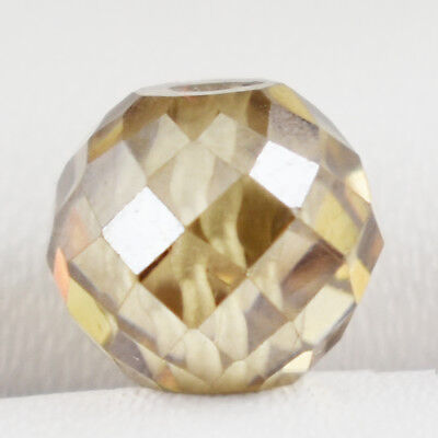 6.05 Cts, Certified Champagne Faceted Diamond Loose Bead for Jewelry Making
