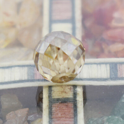 Certified Champagne Faceted Diamond Loose Bead for Jewelry Making - 4.90 Cts
