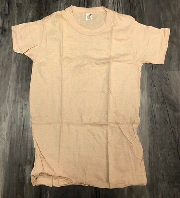 Lot Of 6 1970s Hanes Blank T Shirts Size Kids Large 14-16 Beige New Deadstock