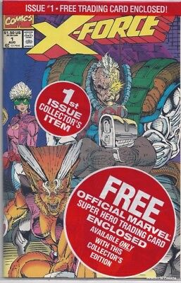 X-Force #1 (Aug 1991) CABLE 1st Issue Collector's Item W Trading Card UNOPENED