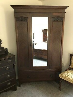Antique Armoire with mirror