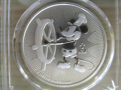 2017 1 oz Niue Silver $2 Disney Steamboat Willie PCGS MS 69