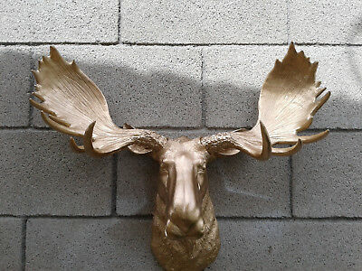 Wooden Moose Head Wall Decoration from www.picclickimg.com