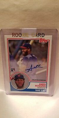 AMED ROSARIO 2018 Topps Series 2 1983 TOPPS AUTO ROOKIE Mets