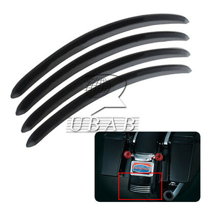 Black Smooth Rear Fender Trim Accents Decor Trim For 06-13 09 Harley FLHX FLTRX