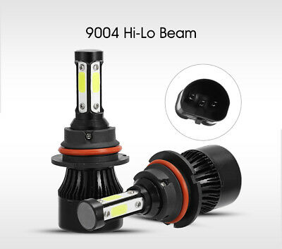 2x 9004/HB1 CREE 72W 6500K 16000LM LED Headlight Bulbs High Low Beam Light Lamp