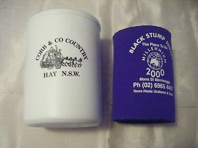 Cobb & Co Hay  NSW and Black Stump Hotel Stubby Holders.