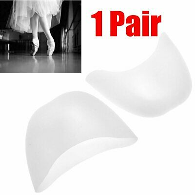 1 Pair Ladies Girls Silicone Gel Toe Pads for Satin Ballet Pointe Shoes White