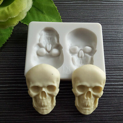 Skull Silicone Cake Chocolate Mould Bakeware DIY Art Mold Kitchen Tool B