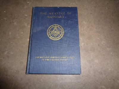 1924 Little Masonic Library The Meaning of Masonry Albert Pike MSA Freemasonry