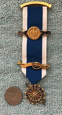 Vintage DAR Daughters of American Revolution Medals Gold Filled W/ Ribbon Named