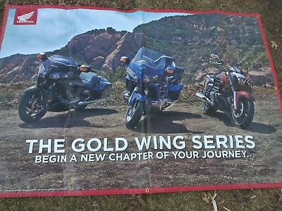 "2014 HONDA GOLD WING SERIES ""Begin A New Chapter of Your Journey"" 70""x48"" BANNER"