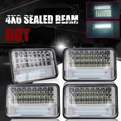 4x 4x6'' led headlight sealed beam replace hologen HID For Freightliner Classic