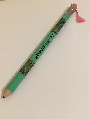 Vintage 1960s Mammoth Caves KY Big Pencil with Tassel 10""