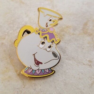 Pin Trading Disney Pins Disneyland Paris Beauty and the Beast Mrs. Potts & Chip