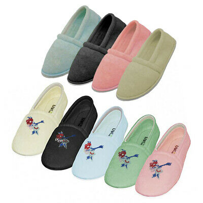Women's Comfy Cotton Terry House Slippers Shoes - Sizes S-XL New
