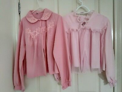 Vintage Sz W Pink Bed Jackets nightware New condition