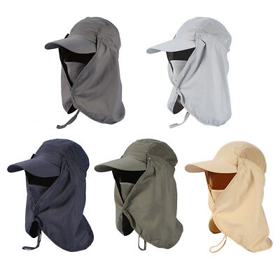5Colors Outdoor Hiking Fishing Ear Face Flap Neck Over Cap Sun UV Protection Hat
